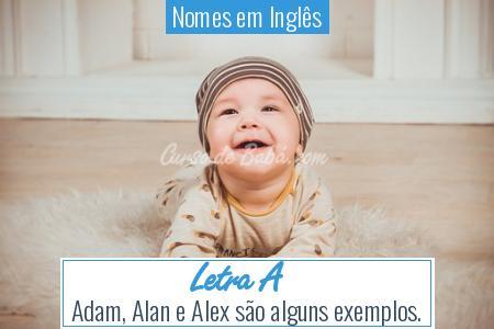 Nomes em Inglês - Letra A
